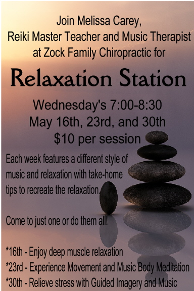 Relaxation Station May Dates